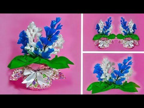 Cara Membuat Bunga Plastik Kresek Dan Vas Bunga Make Beautiful Flower And Vase Flower Pot Youtube Bunga Buatan Sendiri Bunga Kreatif
