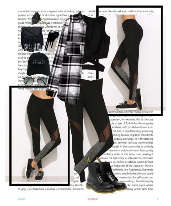 """Leggings"" by k-tomlin ❤ liked on Polyvore featuring Oris, Dr. Martens, Ray-Ban and Nasaseasons"