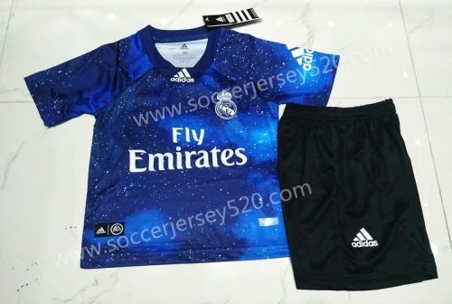 Special Edition 2018 19 Real Madrid Blue Kids Youth Soccer Uniform