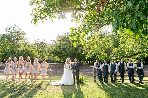 Rustic Farm Wedding Party
