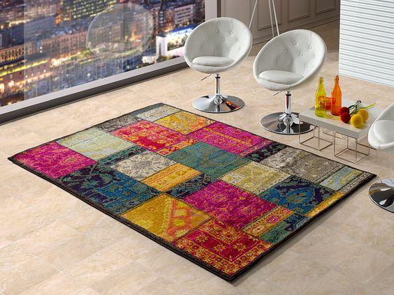Alfombra patchwork kelly 9 21 universal xxi con un espectacular dise o muy colorista y atrevido - Alfombras patchwork baratas ...