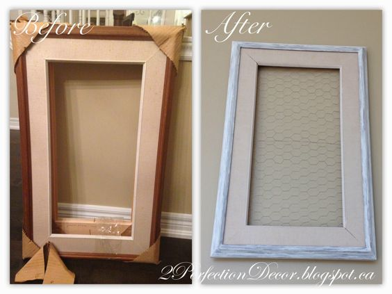 2Perfection Decor: Vintage Frame with Chicken Wire