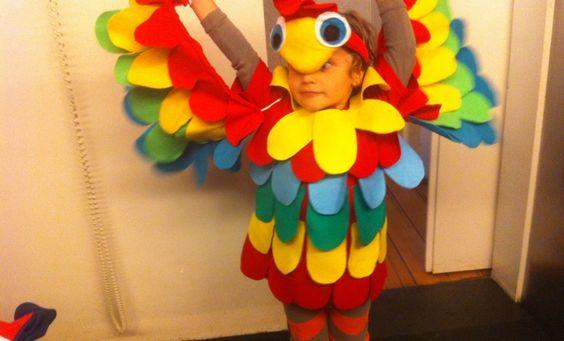 Disfraz de Guacamaya para tu hijo! Fácil, rápido y bonito! #guacamaya #disfraz #bebe #niño #niña #costume