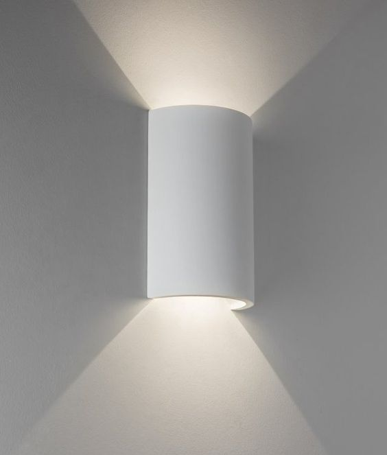 led cut cylinder plaster wall light  producr number 5298from lighting styles @ 90