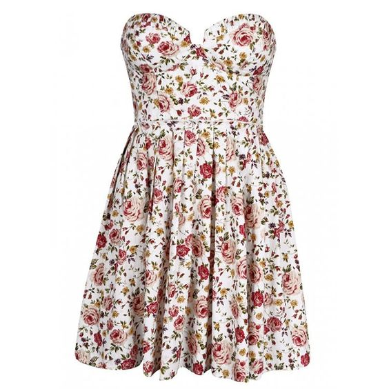 Ally Fashion floral dress. (Mine is more of a cream colour and has straps).