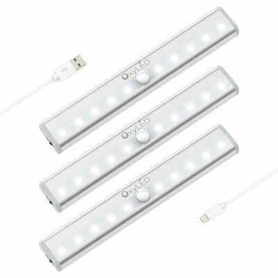 Oxyled Motion Sensor 10 Light Led 5 Under Cabinet Light Bar Motion Sensor Closet Light Indoor Step Lights Led Night Light