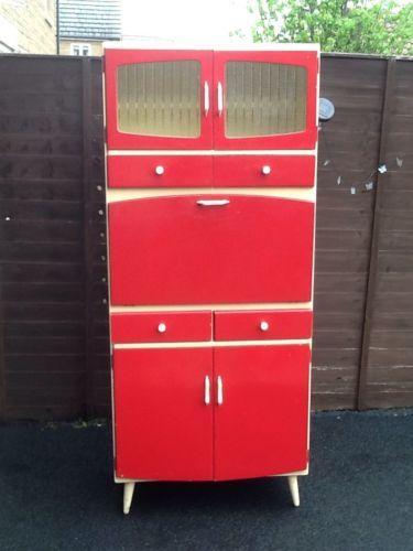 Vintage retro 1960s kitchen larder unit cupboard by for Hygena vintage kitchen units