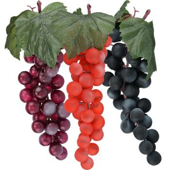 <p> 	A taste of Tuscany! Decorative soft plastic grape bunches look so real and complement any decor. They're a fantastic addition to wreaths, baskets, floral arrangements, centerpieces, $48 for 48