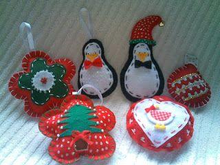 * Design My Life *: Enfeites de Natal em feltro!