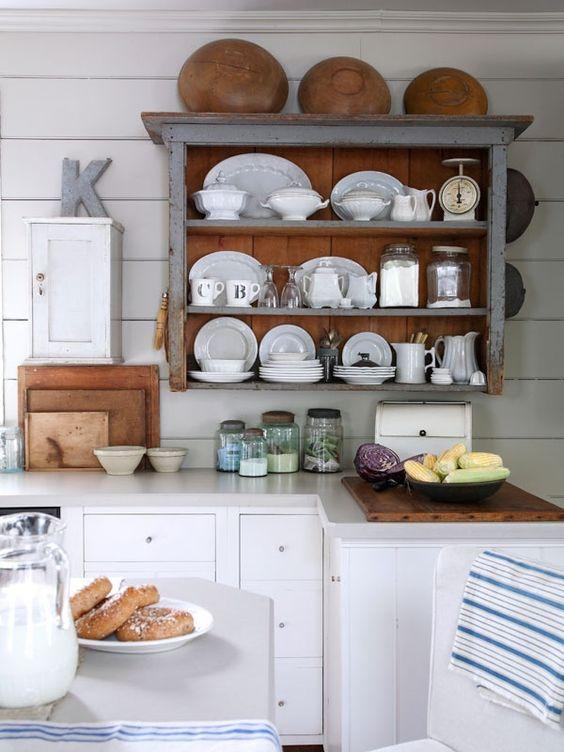 Open Shelf Kitchen Hutch: 5 Ways To Get This Look: Rustic Kitchen