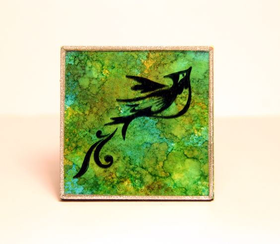 alcohol inks on glass ~ love it! must try on our glass tiles for jewelry and tray pendants! @ecrafty #ecrafty www.eCrafty.com