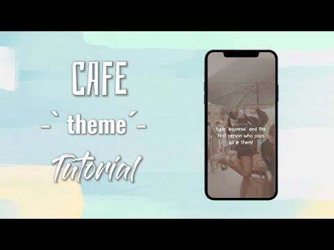 Cafe Theme Idea For Fanpages Aesthetics With Me Youtube In 2021 Feel Good Videos Theme Cafe