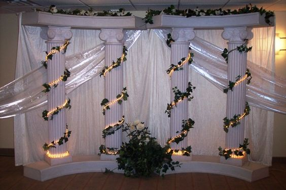 decorative columns for weddings wedding columns decoration ideas pillar 6 3452