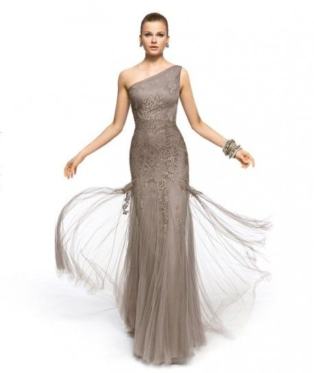 Long dress di pizzo grigio