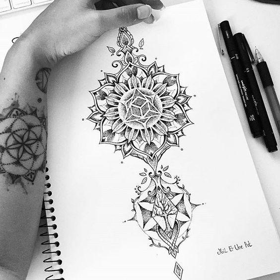 from @mi_li3_art - Calf dotwork mandala tattoo design :) #miletune #art…