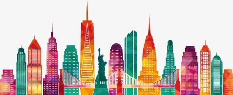 New York City Silhouette Colour Sketch New York Color City Png Transparent Clipart Image And Psd File For Free Download Drawings City Silhouette Architecture Drawing