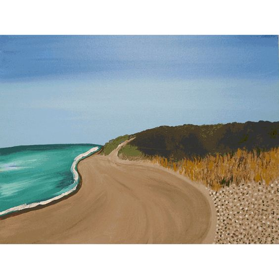 Painting of Menemsha Shoreline that is in our art library. Painting was created by Martha's Vineyard Artist Jasmine Thompson.