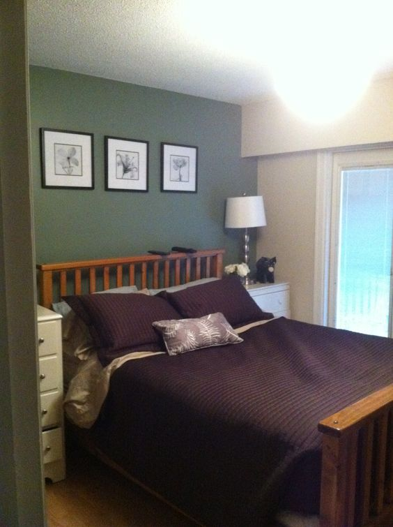 Carolina Gull By Benjamin Moore Feature Wall In Master
