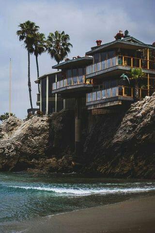 Modern home design. Modern beach front home.