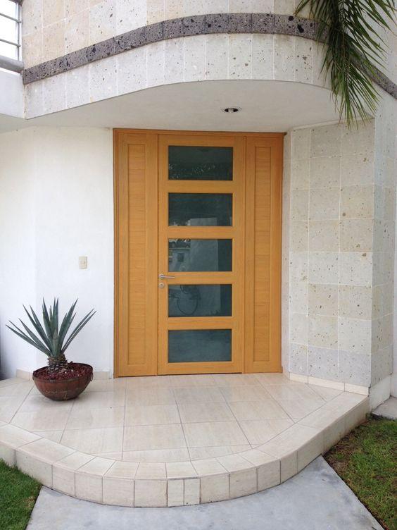 Puerta de aluminio imitacion madera con 1 fijo y puerta - Puertas de aluminio imitacion madera ...