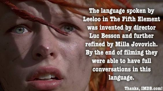 Luc Besson wrote the original screenplay of The Fifth Element when he was in high school.