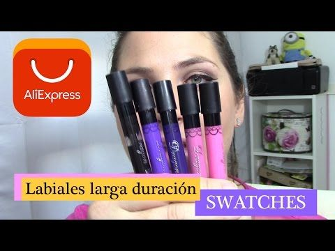 Swatches Labiales larga duración ALIEXPRESS | Noe`s Vlog - YouTube