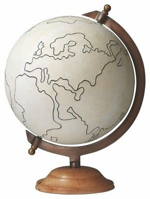Go change the world! Interior HomeScapes offers the Large Canvas Globe by Jamie Young.  Visit our online store to order your Jamie Young products today.