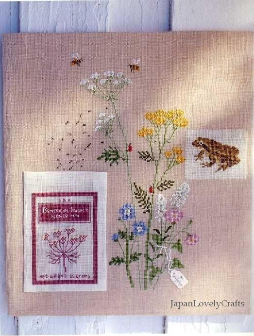Wildflower Garden by Kazuko Aoki - Japanese Embroidery Pattern Book
