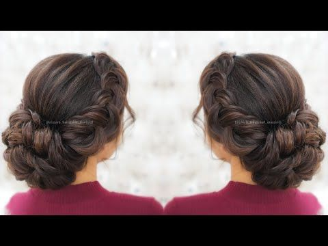 Elegnat Updo Hairstyles Quick And Easy Updo Hairstyles With Braids Youtube Easy Bun Hairstyles Easy Updo Hairstyles Bun Hairstyles