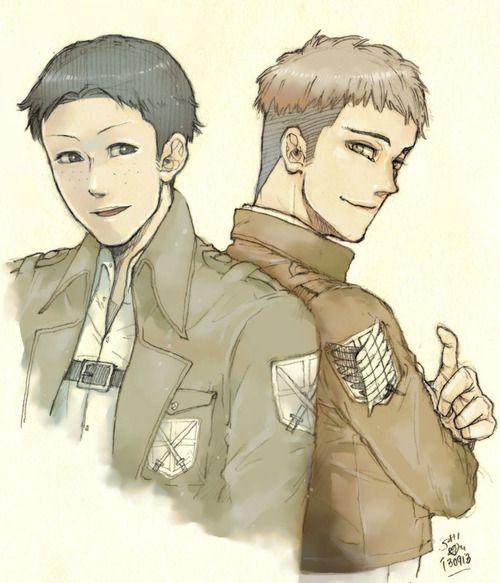 0130913 進撃の巨人:マルコ&ジャン  今日のラクガキ。友人からのリクエストでマルコ初描き+ジャンです。好きですよ……せつない…。