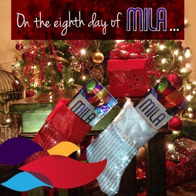 On the eighth day of Mila, share super-food samples inside a stocking! Singles make the perfect stocking stuffers.