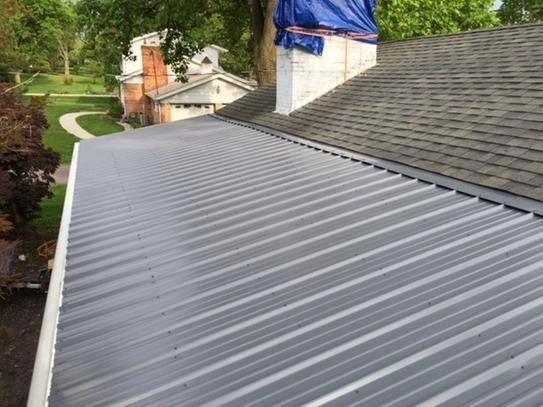 Metal Sales 3 Ft 6 In Classic Rib Steel Roof Panel In Charcoal 2313017 At The Home Depot Mobile Steel Roof Panels Roof Panels Roof Architecture