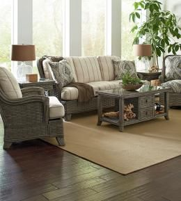 Upscale designer wicker / rattan collection, available in many finishes and fabrics.