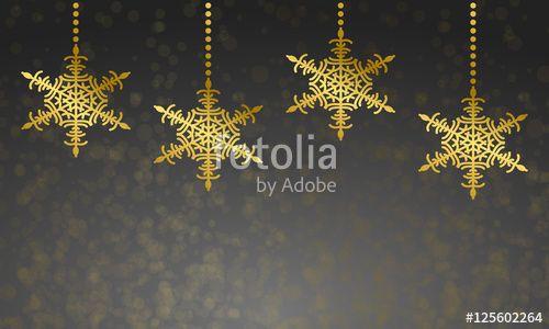 Vektor: Weihnachten - Grußkarte mit Schneesternen (Grau)