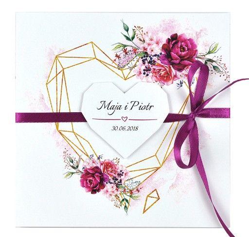 Zaproszenia Slubne Na Slub Akwarele Geometryczne Invitations Wedding Inspiration