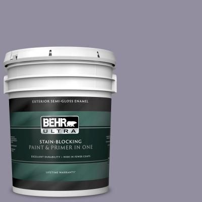Behr Ultra 5 Gal N560 4 Evening In Paris Semi Gloss Enamel Exterior Paint And Primer In One Interior Paint Behr Egg Shells