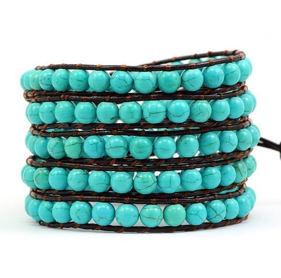 Victoria Emerson - Turquoise Beads: Bracelets Victoria, Leather Wrap Bracelets, Turquoise Beads, Emerson Turquoise, Bracelets Wraps Other, Leather Bracelets, Turquoise Bracelet