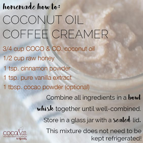 Sunday mornings are for snuggling up with some #coffee! 💕 ☕️  Try this simple #HomeMadeHowTo to give your coffee the #coconut treatment! 😉  #CoconutandCompany / Coconut and Company coconut oil for beauty. Organic, fresh, and pure for glowing hair and skin!