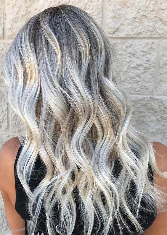 22 Adorable Grey Blonde Hair Color Ideas In 2018 Grey Blonde