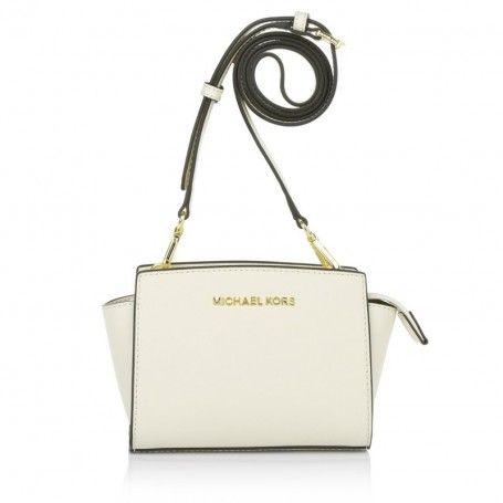 Michael Kors Tasche – Selma Mini Messenger Ecru – in beige – Umhängetasche für Damen