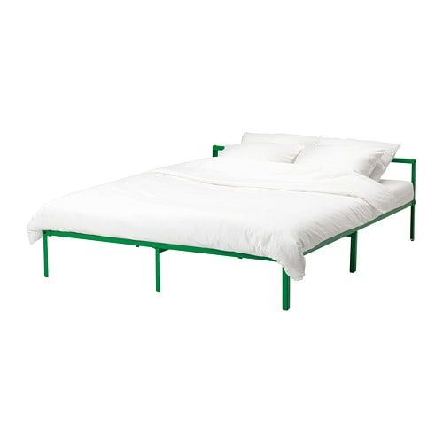 Grimsbu Bed Frame Green Queen With