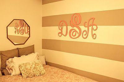 DIY wall Monogram!