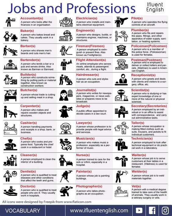 Common Jobs And Professions in English
