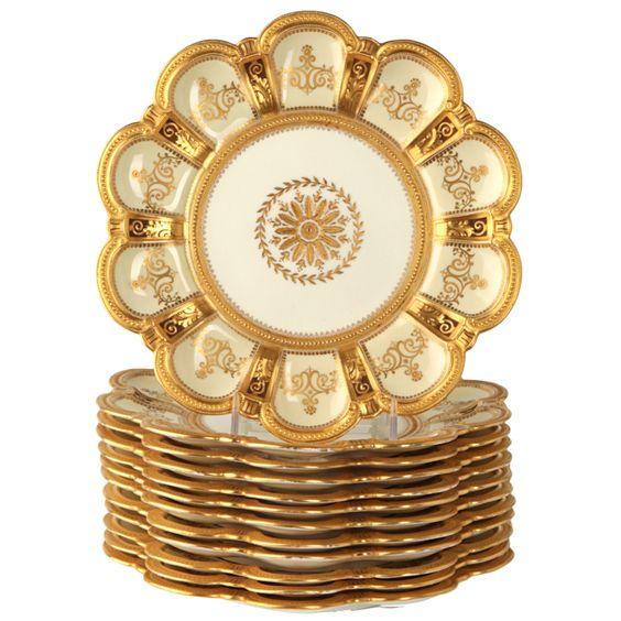 Royal Crown Derby Set Of 12 Decorative Plates