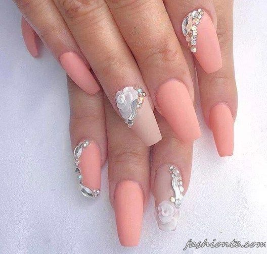 LOVE THE COLOUR!!!                               150+ Latest Nail Art Ideas for Perfect Summer 2016 2017 |