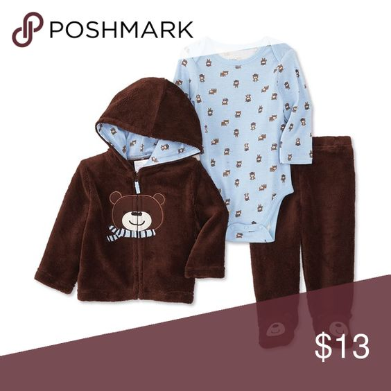 Infant boys 3pc hoodie bodysuit pant set 6-9m This set is NWT. Smoke and pet free. Size 6-9months. Matching Sets