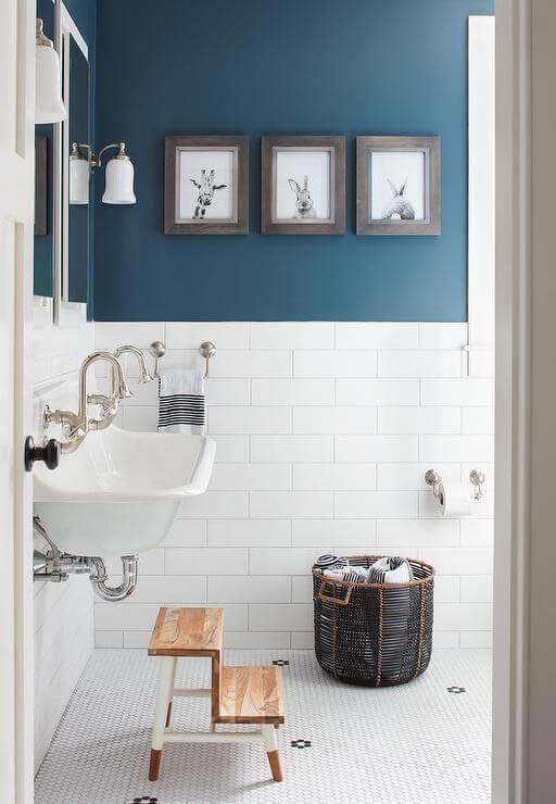 23 Bold Blue Color For White Bathroom Trendy Bathroom Bathroom Inspiration Bathroom Colors