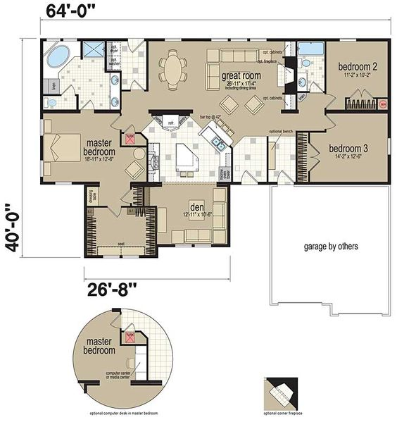 Floor Plans Champion 733t Manufactured And Modular
