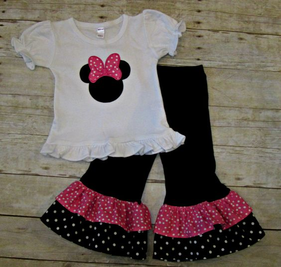 Minnie Mouse First Birthday Party Via Little Wish Parties: Pink And Black Minnie Mouse Outfit
