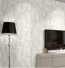 carta da parati moderno stile semplice rivestimento murale ambientale non tessuto wallpapers 3d plaid tapete per soggiorno camera da letto decorazione(China (Mainland))